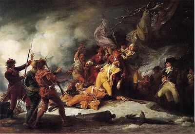 Oil painting John Trumbull - Death of General Montgomery in the Attack on Quebec