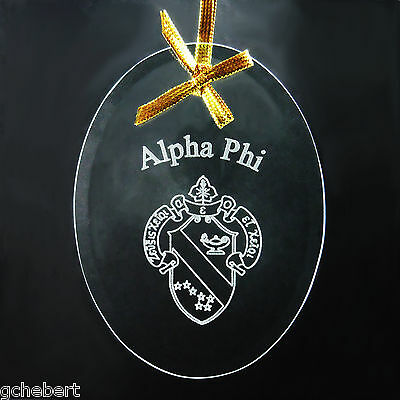 Ornament//Sun Catcher Name /& Crest Beveled Crystal Oval ΦΔΘ Phi Delta Theta