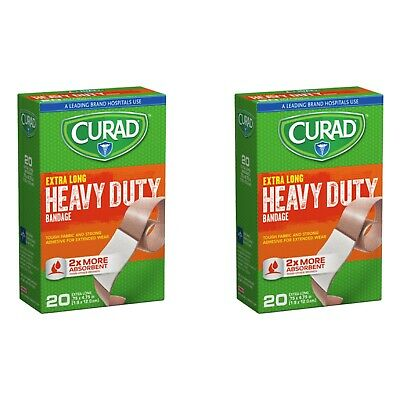 (2pk) Curad Extreme Lengths, Extra Long Bandaids,Latex Free
