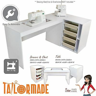 Sewing Machine Cabinet Desk Table Storage Furniture Janome Singer Brother Elna