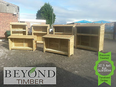 Heavy Duty Pressure Treated Wooden Log/Wood Store/Shed - All Sizes - TOP QUALITY