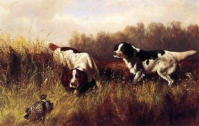 Huge artwork oil painting arthur-fitzwilliam-tait-prarie-shooting-find-him view