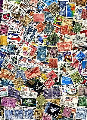 USED lot of 60+ mixed US stamps off paper - GREAT value with a  BONUS Offer!