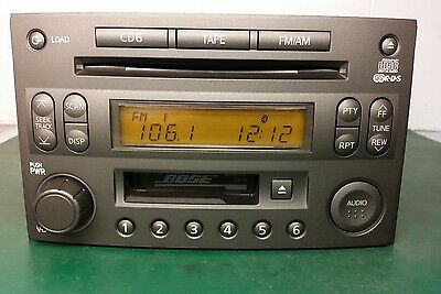 03 Bose Nissan 350Z Radio Tape 6 Cd Changer Player Pp-2514L