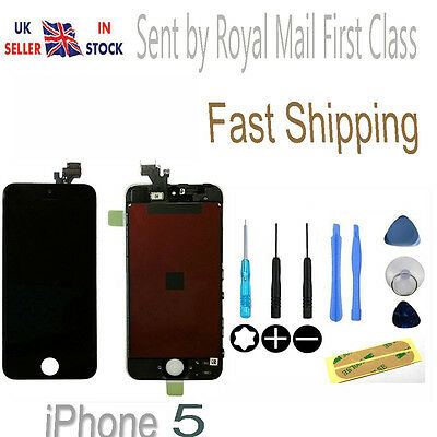 For Apple iPhone 5 Front Glass LCD Screen & Digitizer Assembly Replacement Black