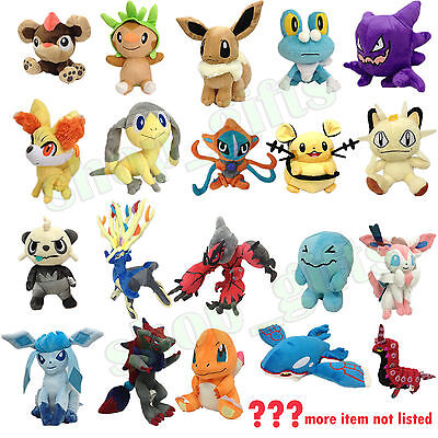 Pokemon XY Plush Soft Toy Stuffed Animal Doll Xerneas Yveltal Varies Characters