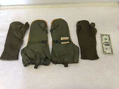 Vintage M-1951 Trigger Finger MITTENS with Wool Inserts UNUSED Military 1952 M51