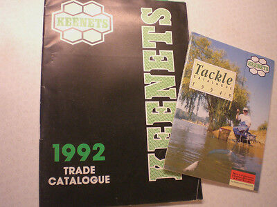 2 Old Keenets Advertising Fishing Catalogues 1992 And 1994/5