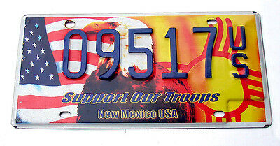 New Mexico SUPPORT OUR TROOPS License Plate - EAGLE MILITARY USA