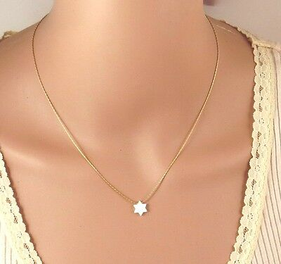 Opal Star of David necklace, white opal star necklace, jewish star necklace