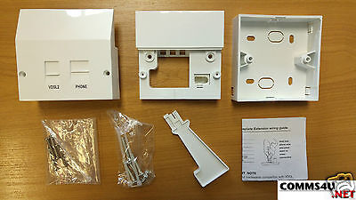 Genuine BT Master Socket DSL/ADSL Phone Filter Faceplate Box 4 Openreach Nte5a