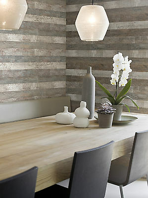Vlies Tapete Antik Holz rustikal braun grau blau Elements Royal Wood 46500 46504