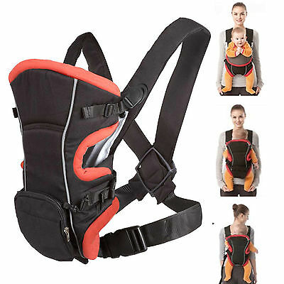 New Allis Baby Carrier Backpack Sling Wrap with Removable Bag Red Black - 3 Ways