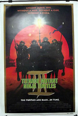 Teenage Mutant Ninja Turtles Iii -Corey Feldman- Original Usa 1Sht Movie Poster
