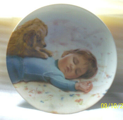 Waiting To Play (Donald Zolan) Children and Pets Collection NIB Plate (B-26)