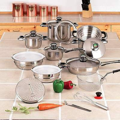Chef's Secret 22pc 12-Element Super Set with High-Quality Stainless Steel and E