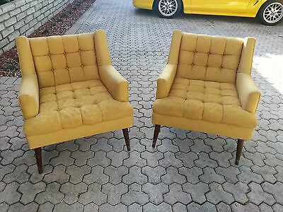 Pair Of Wildly Stylish 1950's Mid Century Modern Club Chairs Manner  Paul Mccobb