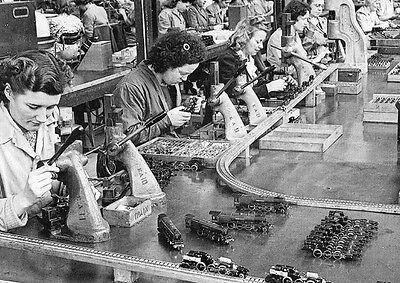 Production on Hornby trains at the Meccano Factory POSTER