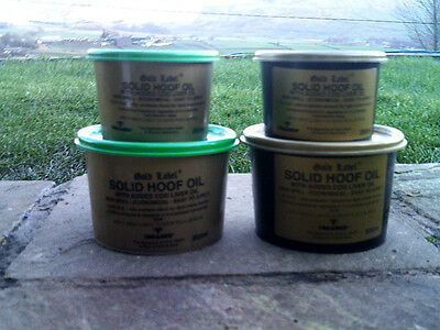 GOLD LABEL SOLID HOOF OIL WITH ADDED COD LIVER OIL Horse Pony Equine