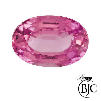BJC® Loose Natural Pink Sapphire Oval Cut Multiple Sizes Natural Stones