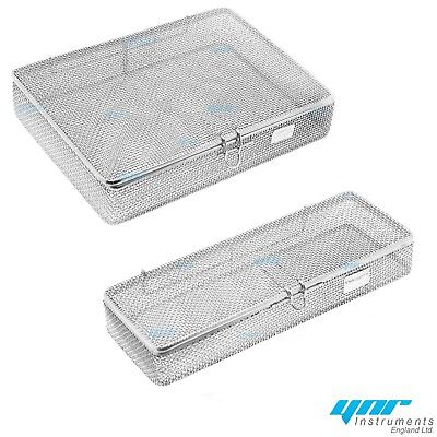 YNR England Sterilization Cassette Tray Autoclave Sterilizer Perforated Mesh Box