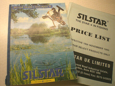 Silstar Shop Advertising Trade Fishing Catalogue For 1995 With 1993 Price List