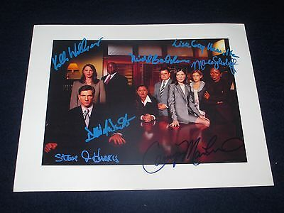 THE PRACTICE CAST SIGNED PHOTO 7 AUTOGRAPHS 8x10 DYLAN MCDERMOTT, LAURA FLYNN