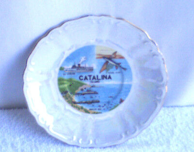 VINTAGE  CATALINA  ISLAND  PLATE  6 1/2  INCHES   JAPAN  /  USED