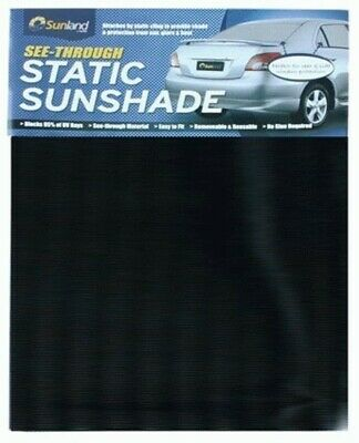 See-Thru Static Cling Sunshade Black Le45B