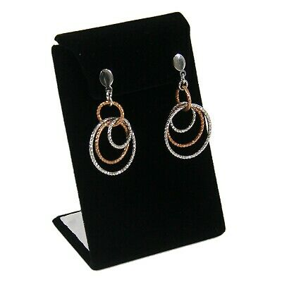 Black Velvet Curved L-Style Earring Jewelry Display Stand