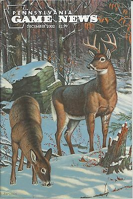 Pennsylvania Game News December 2002 cover by Bob Sopchick whitetail deer