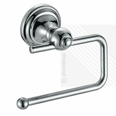 TRADITIONAL Bathroom Chrome Toilet Roll Paper Holder • Wall Mounted Accessory
