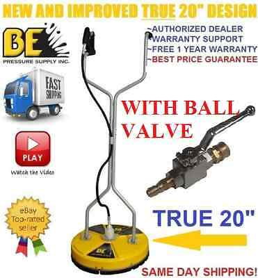 BE Pressure WHIRL-A-WAY 20'' Flat Surface Concrete Cleaner Washer W/ BALL VALVE