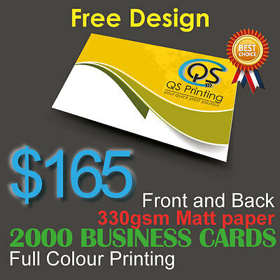 2000 Business Cards full colour Printing (Front&Back) on 330gsm paper+FreeDesign