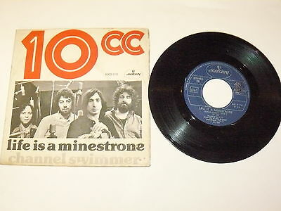 "10CC ""LIFE IS A MINESTRONE"" disco 45 giri MERCURY Ita 1975 GLAM"