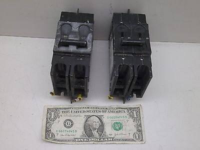 Lot Of 2 Airpax 2 Pole 20A Amp Circuit Breaker 229-2-1-61F-8-9-20 Used But Good