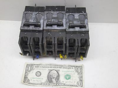 Lot Of 3 Airpax 2 Pole 20A Amp Circuit Breaker 229-2-1-61F-8-9-20 Used But Good