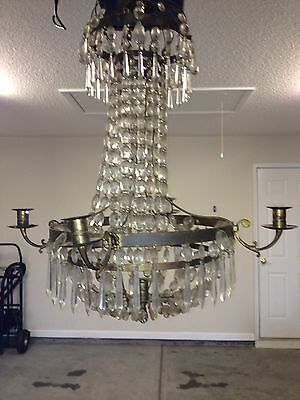 Antique Gustavian Crystal Chandelier