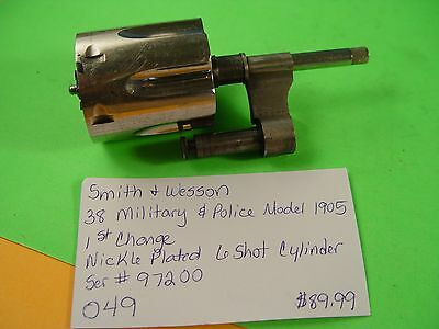 6 Shot Cylinder for Smith & Wesson Model 1905, 38 Police O49 | Pistol Parts