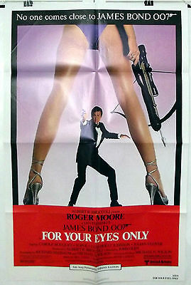 For Your Eyes Only - Roger Moore / James Bond - Original Usa 1Sht Movie Poster