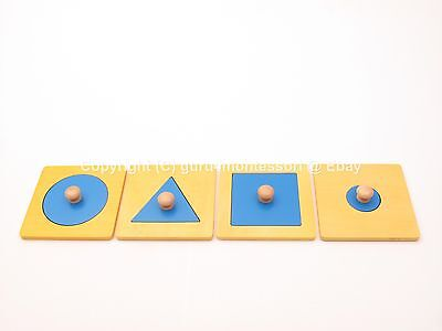 NEW Montessori Infant Toddler Material - Big Knobs Puzzles Set of 4