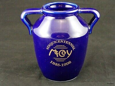McCoy Sesquicentennial 150 Year Commemorative Cobalt and Gold Vase