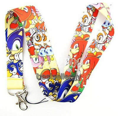 Lot 10 Pcs sonic cartoon neck mobile Phone lanyard Keychain straps charms Gifts