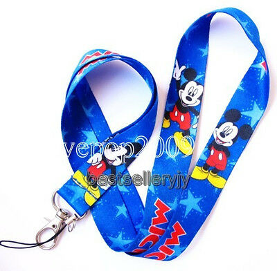 Lot 10 Pcs Disney Mickey neck mobile Phone lanyard Keychain straps charms Gifts