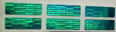 100 Green SVAG Warranty Protection Security Labels Stickers Tamper Evident Seals