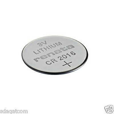 1 X Renata CR 2016 CR2016 Lithium 3V Watch Button Cell Battery Swiss Made