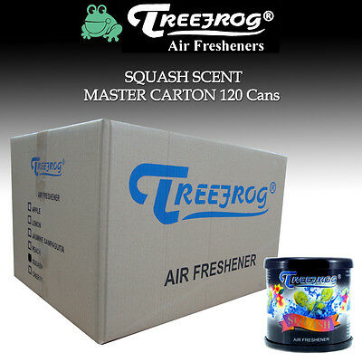 120 Can Treefrog Squash / Assorted Scent Air Freshener Full Case - Tree Frog