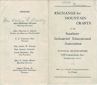 Mrs. Warren G Harding Southern Industrial Educational Association Folk Art Craft