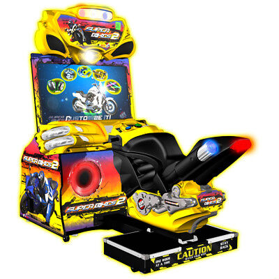 """Raw Thrills Super Bikes 42"""" LCD Deluxe Driving Game"""