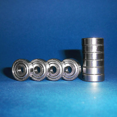 10 Kugellager 698 ZZ / 8 x 19 x 6 mm